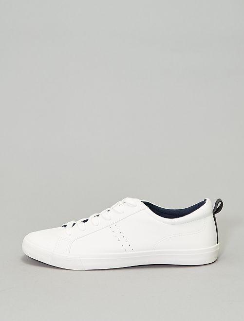Zapatillas deportivas bajas lisas                                                     blanco