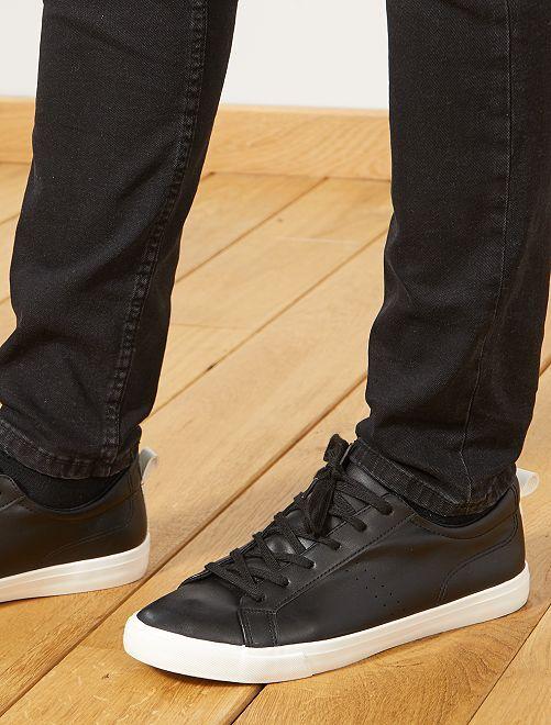 Zapatillas deportivas bajas lisas                                                     negro