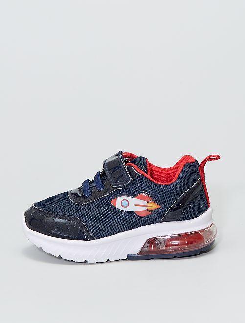 Zapatillas deportivas bajas luminosas 'cohete'                             azul navy
