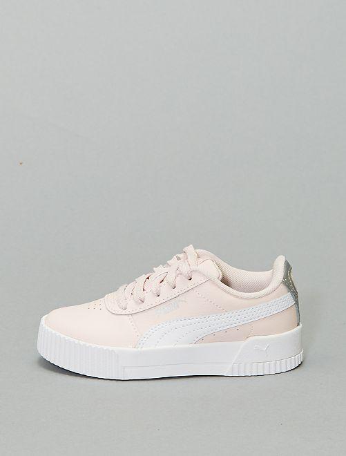 Zapatillas deportivas bajas 'Puma' 'Carina' de piel                             BEIGE