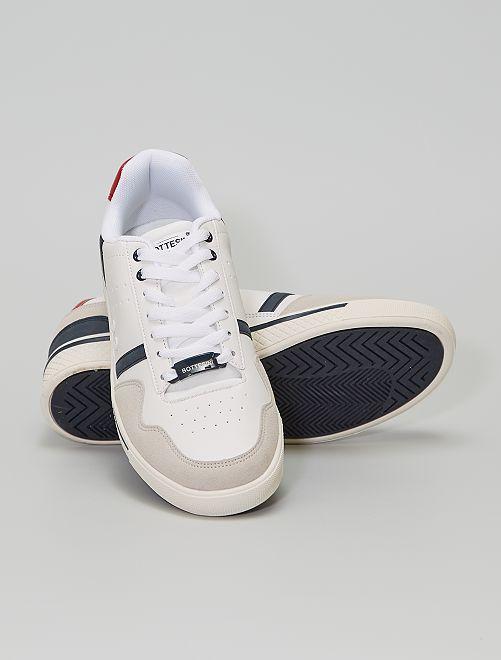 Zapatillas deportivas bajas sintéticas                             BLANCO