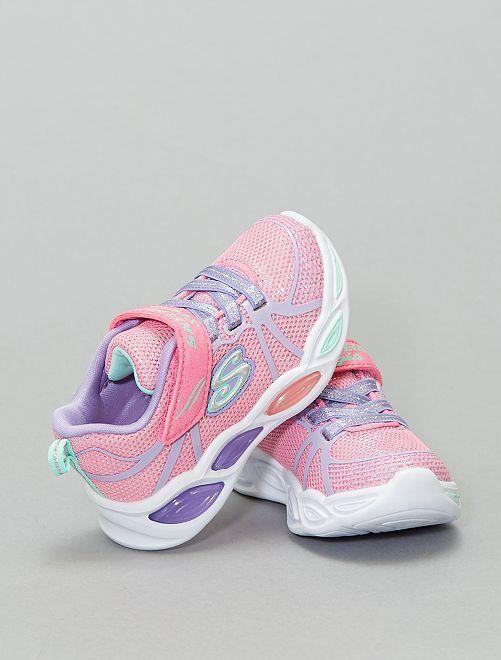 Zapatillas deportivas bajas 'Skechers' luminosas                             ROSA