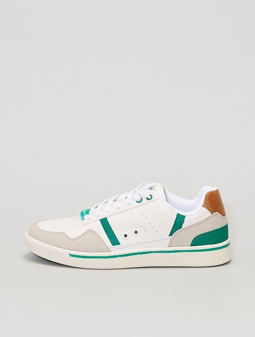 Zapatillas deportivas bajas tricolor                             BLANCO