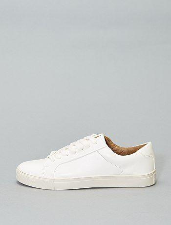 4b32434b6ec Zapatillas deportivas blancas con cordones - Kiabi