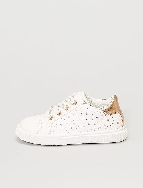 Zapatillas deportivas con corazones all over                             blanco