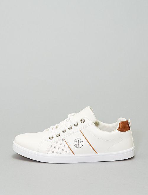 Zapatillas deportivas con cordones                             blanco