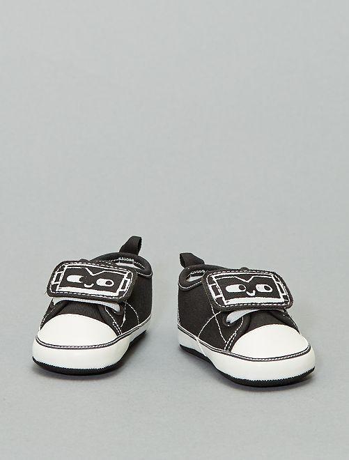Zapatillas deportivas con parche de robot                             gris oscuro
