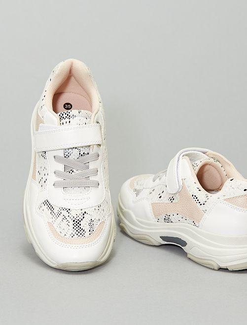 Zapatillas deportivas con suela ancha                             BLANCO