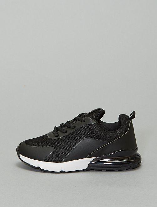 Zapatillas deportivas con suela bicolor                             negro