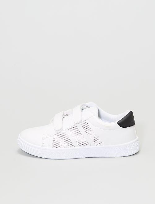 Zapatillas deportivas con velcro                             blanco