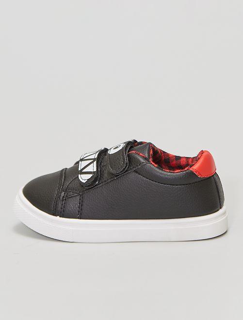Zapatillas deportivas con velcro                             negro