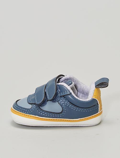 Zapatillas deportivas con velcros                             AZUL