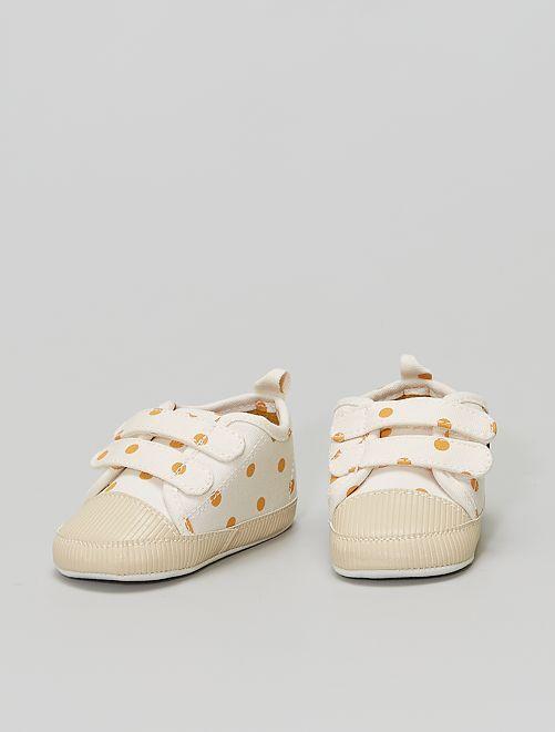 Zapatillas deportivas con velcros                                         BLANCO