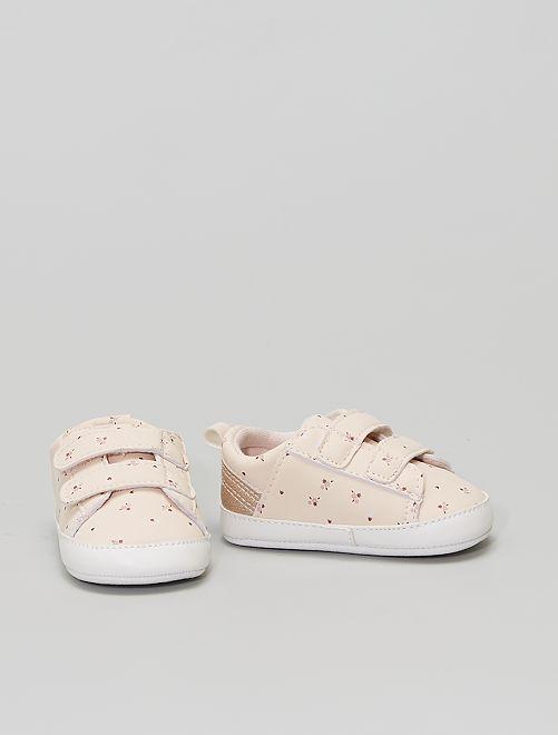 Zapatillas deportivas con velcros                                         estampado flor