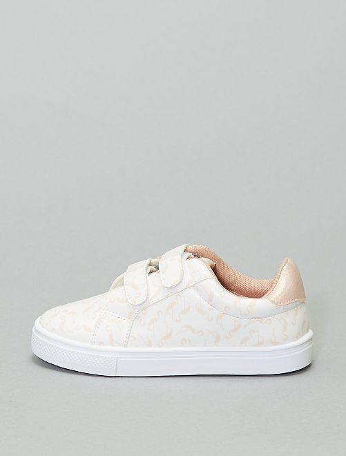 Zapatillas deportivas con velcros 'flamenco'                             blanco
