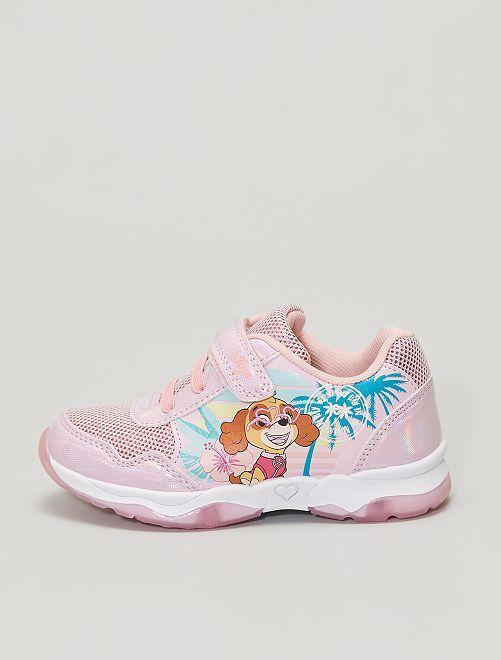 Zapatillas deportivas con velcros 'La patrulla canina'                             ROSA