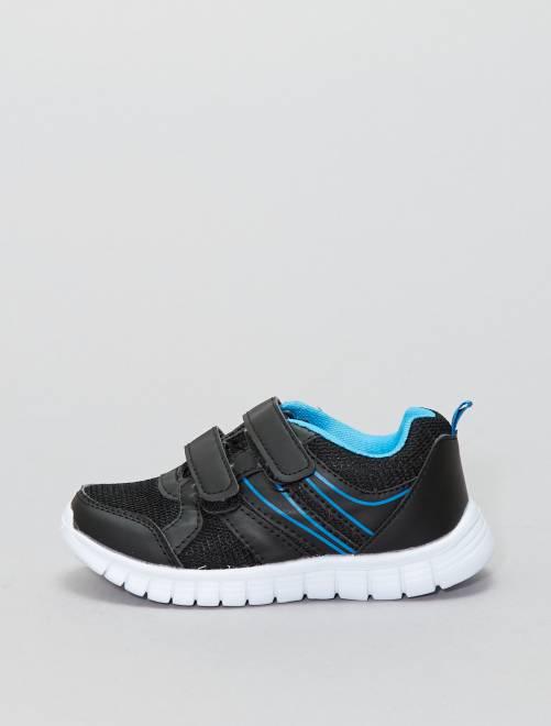 Zapatillas deportivas con velcros                             NEGRO Zapatos