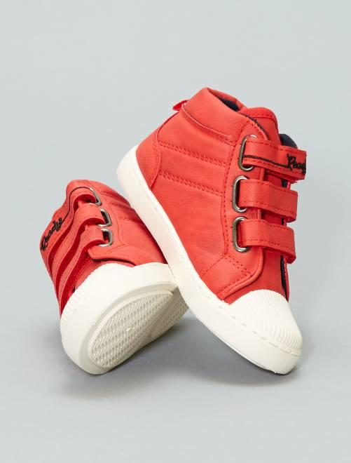 Zapatillas deportivas con velcros                             ROJO Chico