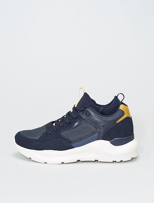 Zapatillas deportivas de dos materiales                             azul navy