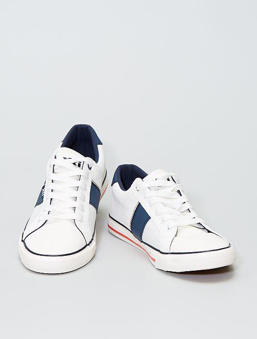 Zapatillas deportivas de dos materiales                             blanco