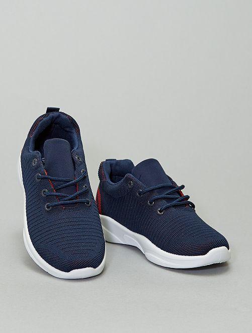 Zapatillas deportivas de malla                             azul navy