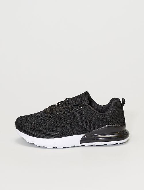 Zapatillas deportivas de malla                             negro