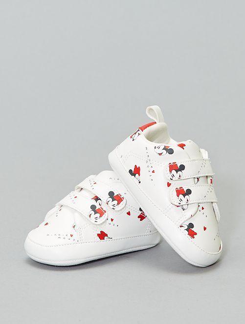 Zapatillas deportivas de 'Minnie' con velcro                             BLANCO Zapatos
