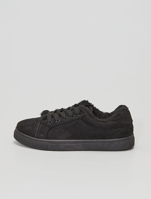 Zapatillas deportivas de pelo                                         NEGRO