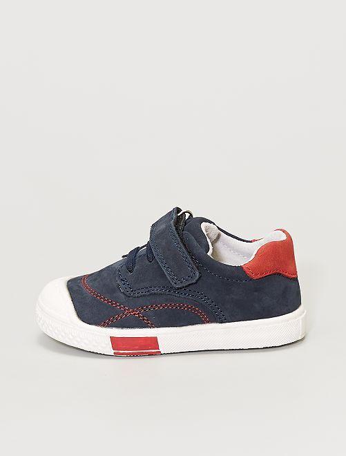 Zapatillas deportivas de piel                             azul navy