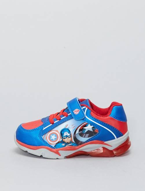 Zapatillas deportivas de piel sintética 'Capitán América' 'Marvel'                             AZUL Chico