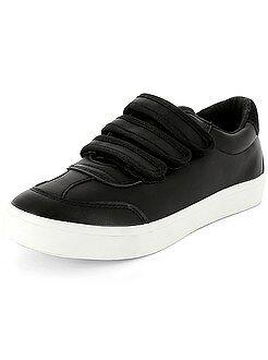 Zapatos - Zapatillas deportivas de piel sintética con 3 tiras de velcro