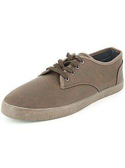 Zapatos hombre - Zapatillas deportivas de piel sintética