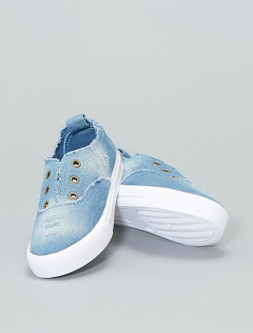 Zapatillas deportivas de tejido vaquero                             azul Chica