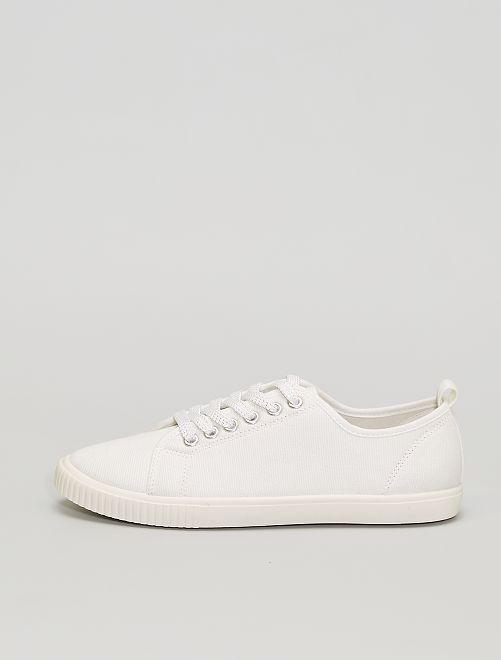 Zapatillas deportivas de tela                                                     blanco
