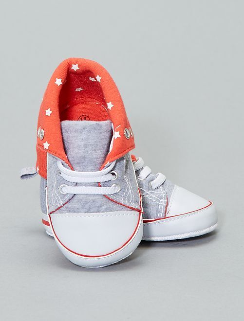 Zapatillas deportivas de tela                                         gris chiné