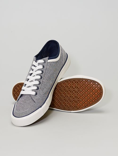 Zapatillas deportivas de tela                             gris