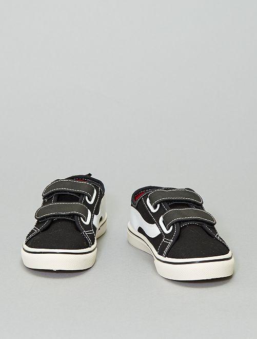 Zapatillas deportivas de tela                                                     negro