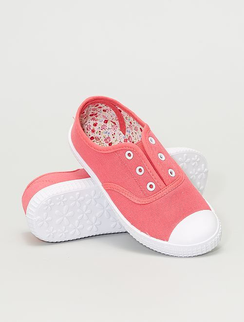 Zapatillas deportivas de tela                                         rosa