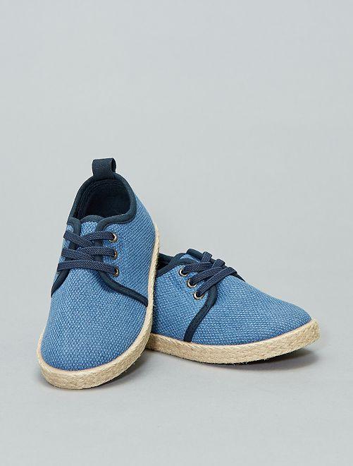 Zapatillas deportivas de tela tejida                                         azul Chico