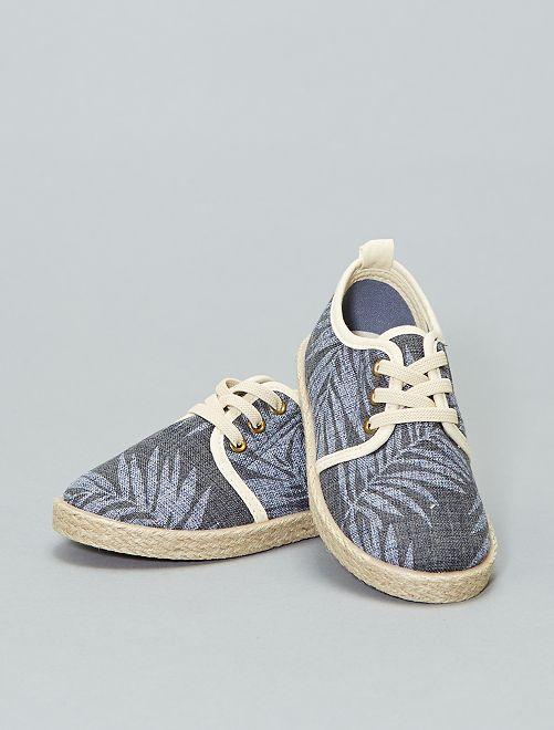 Zapatillas deportivas de tela tejida                             estampado Chico