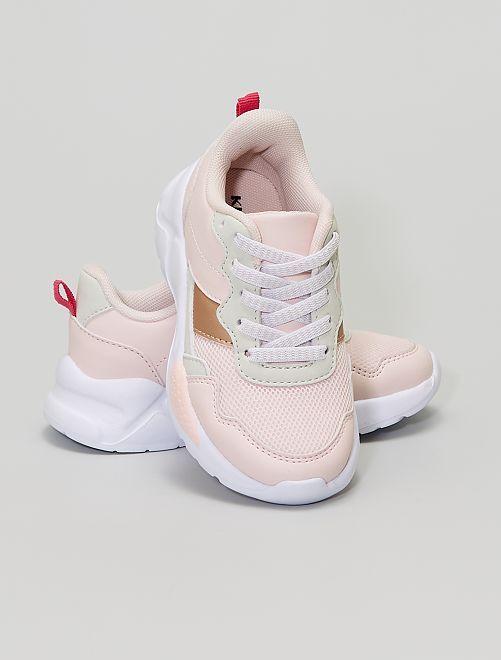 Zapatillas deportivas de varios materiales                             rosa