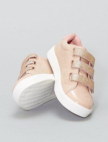 Zapatillas deportivas de velcro con brillos - Kiabi
