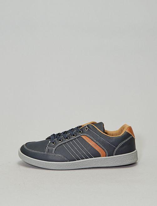 Zapatillas deportivas de vestir de material sintético                             azul navy