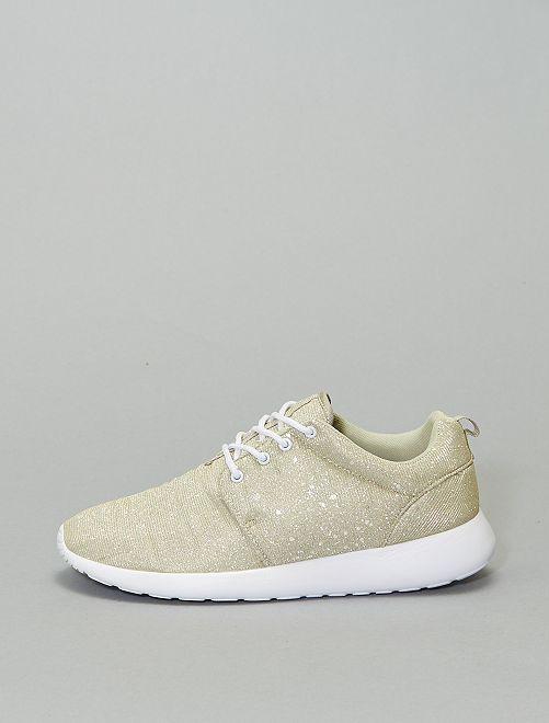 Zapatillas deportivas doradas                             BEIGE