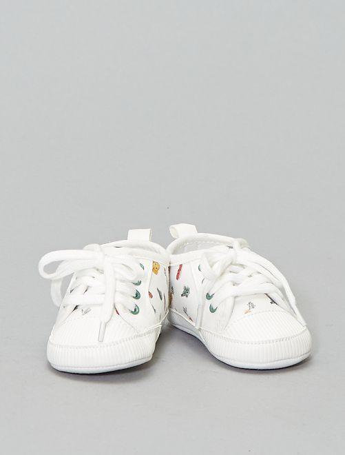 Zapatillas deportivas estampadas 'verduras'                             BLANCO Zapatos