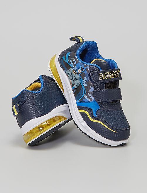 Zapatillas deportivas luminosas con velcros 'Batman'                             azul