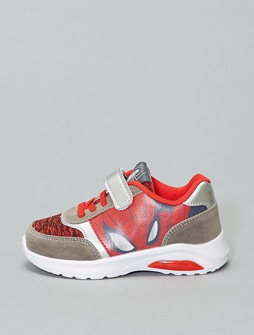 Zapatillas deportivas luminosas 'Spiderman'                             rojo/gris