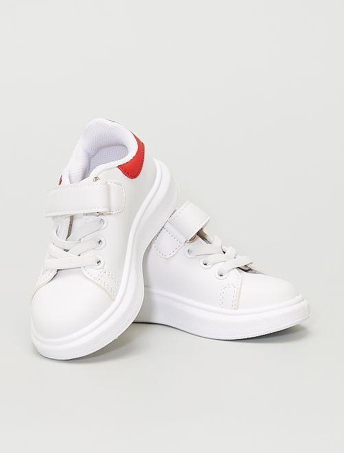 Zapatillas deportivas sintéticas                             blanco/rojo