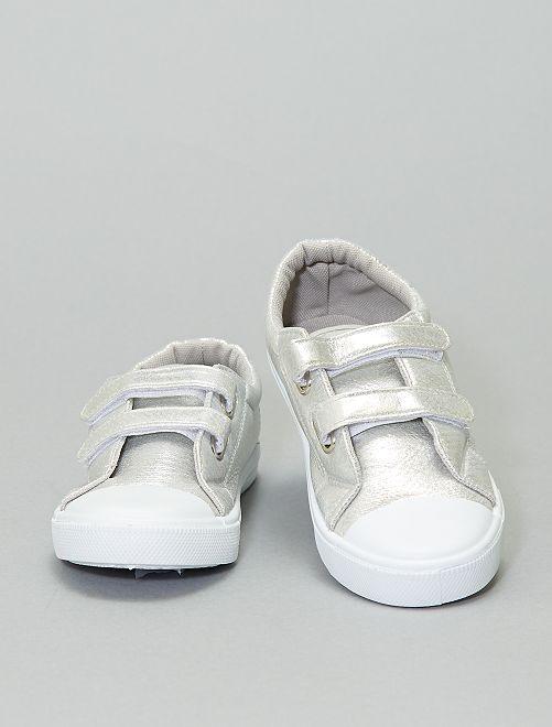 Zapatillas deportivas sintéticas irisadas                                         plata
