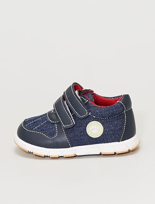 Zapatillas deportivas vaqueras con velcros                             azul navy